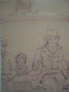 Interieur Dokkumer trekschuit 1834