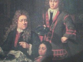 Detail schilderij met Filander de Baron