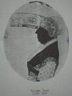 Silhouet van Sytske Ypey (1749-1835)