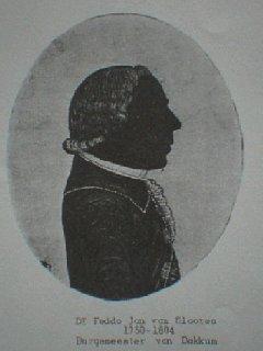 Silhouet van Feddo Jan van Slooten (1750-1804)