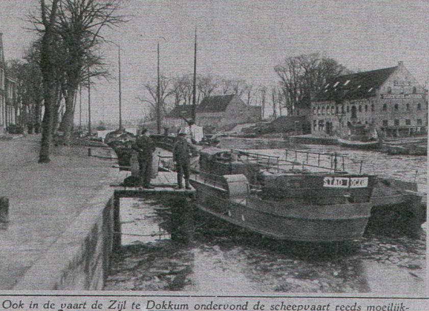 Het beurtschip De Stad Dockum in 1933