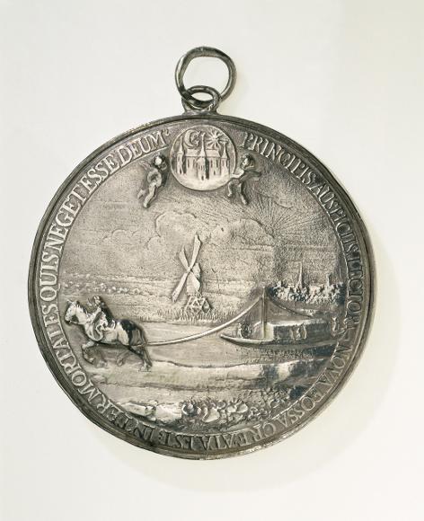 Dokkumer trekschuit in 1656