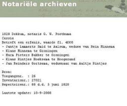 Fries Notarieel Archief 1809-1925 online verdubbeld