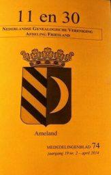 11en30 april 2014 NGV Friesland met Ameland cover