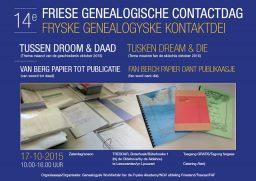 14e Friese Genealogische Contactdag, 17 oktober 2015
