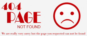 404 page not found melding
