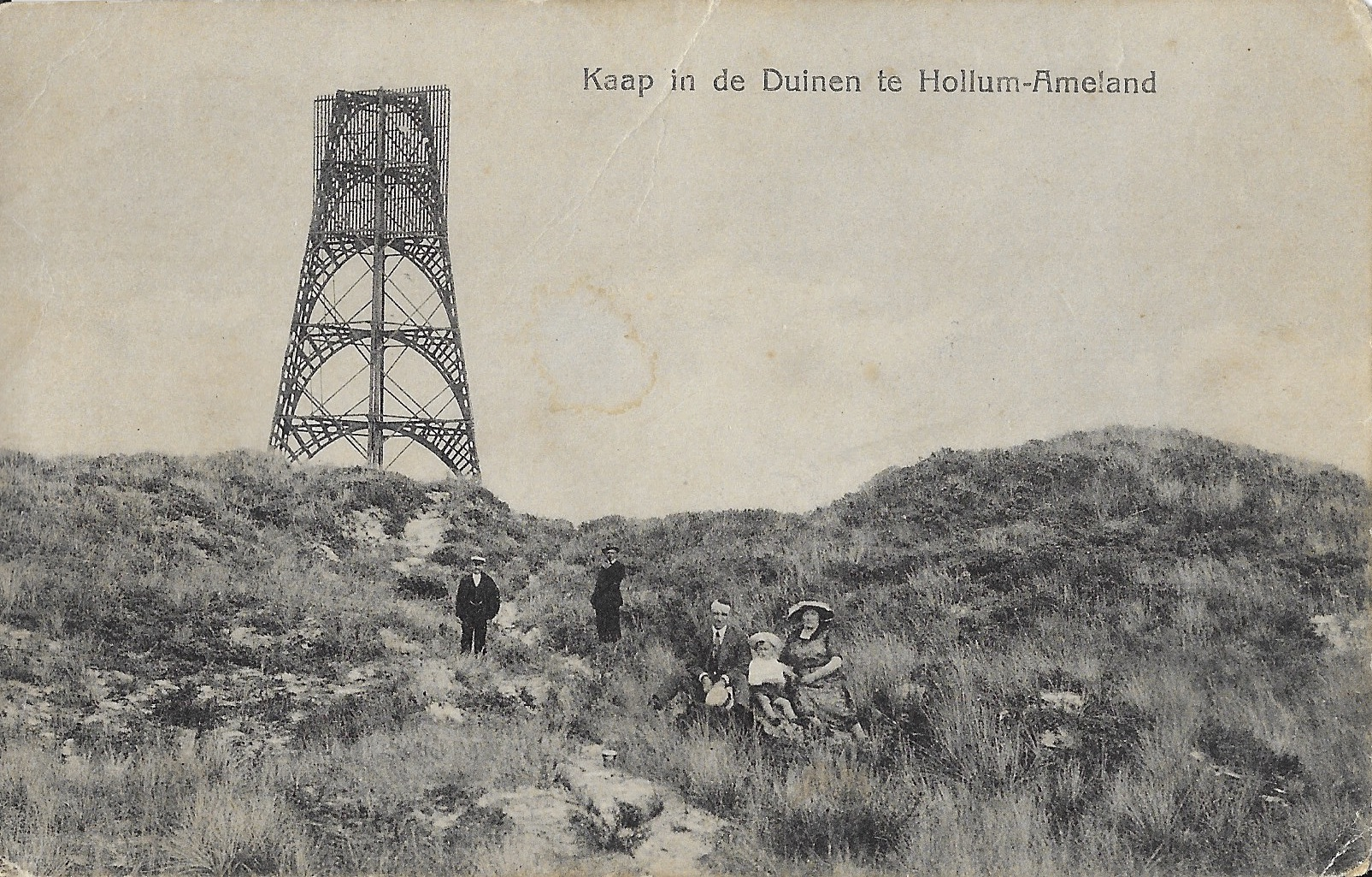 Hollum, Kaap in de duinen.
