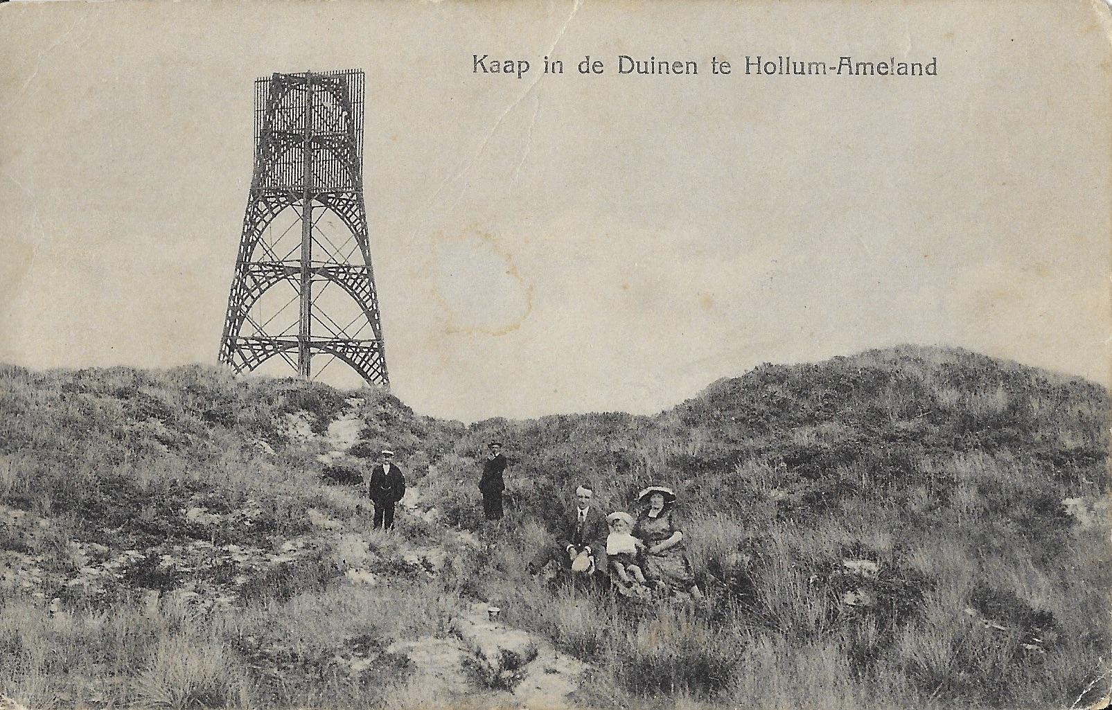 Hollum, Kaap in de duinen.