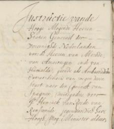 Philippus van Humalda uit Ee als ambassadeur naar de koning van Spanje
