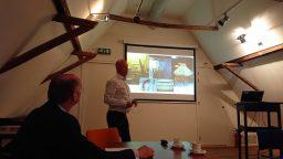 Wurkgroep Maritime Skiednis Fryske Akademy op bezoek in Harlingen