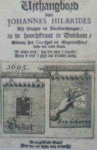 Uithangbord van Johannes Hilarides uit Dokkum