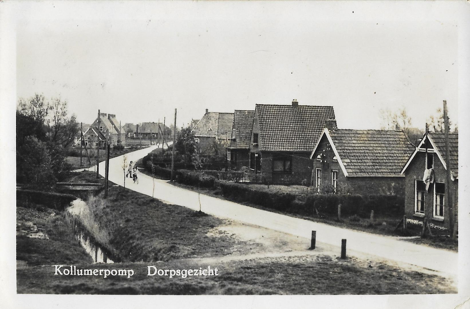 Ansichtkaart Kollumerpomp 1948
