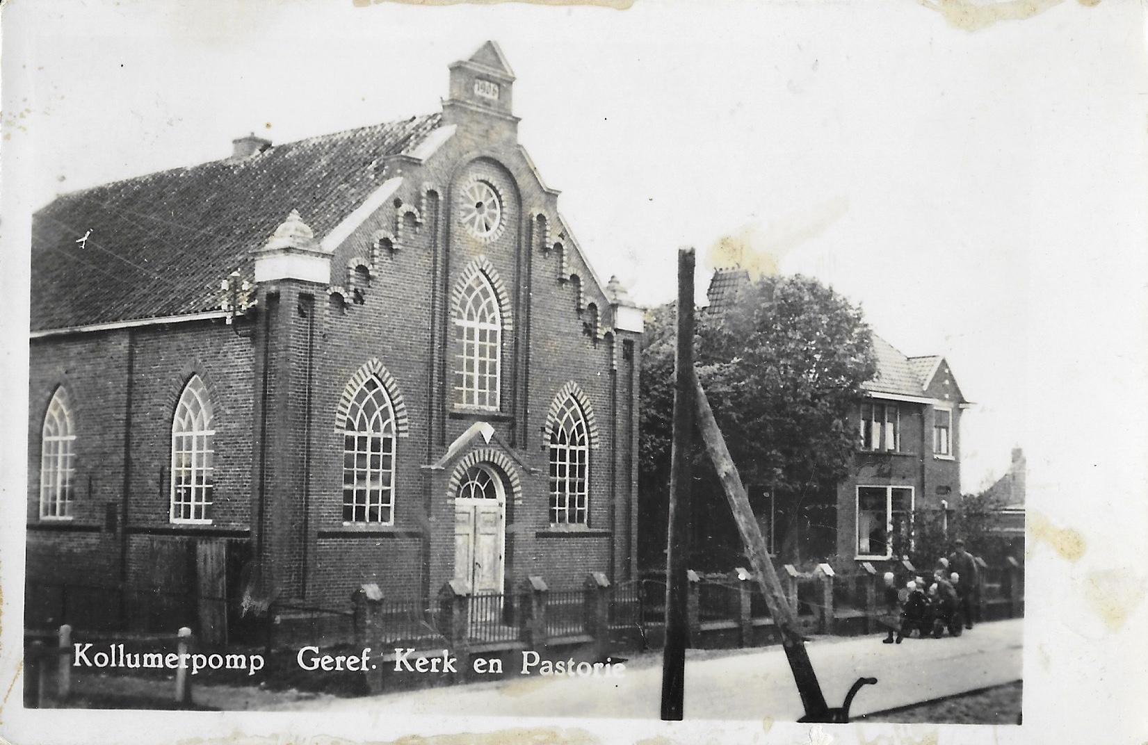 Kerk en pastorie Kollumerpomp