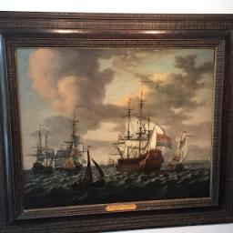 Sneuper Wibo Boswijk ontdekte schilderij van Friese zeeheld Tjerk Hiddes de Vries