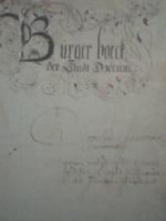 Burgerboek Dokkum 1574-1798