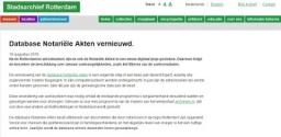 Notarieel Archief Rotterdam ook interessant voor Noordoost Friesland