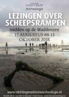 Lezingen over scheepsrampen midden op de Waddenzee 17 augustus en 12 oktober